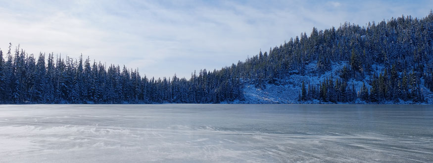 ice on Lower Rosary lake